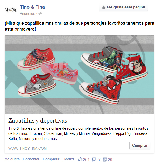 anuncio antiguo facebook
